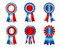 Stock Image : USA patriotic award ribbon rosette