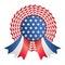 Stock Image : Usa ribbon or badge