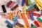 Stock Image : Used pastels sticks