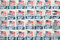 Stock Image : Used US postage stamps
