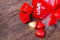 Stock Image : Valentine decoration, heart shaped chocolate, roses, heart
