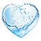 Stock Image : Valentine heart made of water splash
