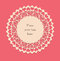 Stock Image : Valentine lace card_2