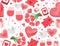 Stock Image : Valentine's Day Seamless Background