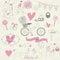 Stock Image : Valentine set