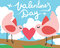 Stock Image : Valentines Day Birds with a Heart