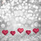 Stock Image : Valentines Day Holiday Background On Paloma Grey &