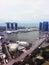 Stock Image :  Van bedrijfs Singapore centrale districtshorizon