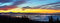 Stock Image : Vancouver Panoramic Cityscapes at sunrise