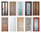 Stock Image : Various wooden doors, isolated over white