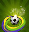 Stock Image : Vector background on the football theme