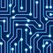 Stock Image : Vector blue circuit board background