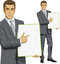 Stock Image : Vector Businessman With Empty Write Board