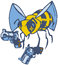 Stock Image : Vector Cartoon Bee with Two Pistols