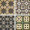 Stock Image : Vector ceramic tiles with seamless pattern