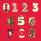 Vector Christmas Numbers , vector illustration set