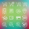 Stock Image : Vector clean icons set for web design and application user inter