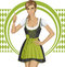 Stock Image : Vector Cute Woman In Drindl On Oktoberfest