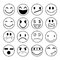 Stock Image : Vector emotional face icons