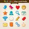 Stock Image : Vector Hand Draw Blog And Social Media Icon Set