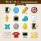 Stock Image : Vector Hand Draw Communication Icon Set