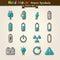 Stock Image : Vector Hand Draw Power Symbols Icon Set