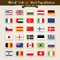 Stock Image : Vector Hand Draw World Flags Icon Set