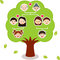 Stock Image : Vector Icons: Family Tree