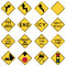 Stock Image : Traffic Warning Signs in the United States
