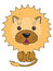 Stock Image : A vector illustration of a cute lion