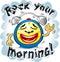 Stock Image : Vector illustration of funny alarm clock