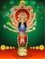 Stock Image : Vector illustration goddess durga