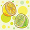 Stock Image : Vector illustration of lemon, lime.