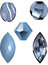 Stock Image : Vector illustrations of Lace blue agate, a blue gem and blue beads