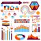Stock Image : Vector info-graphic  elements set 01