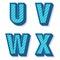 Stock Image : Vector retro alphabet