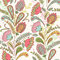 Vector seamless hand-drawn pattern with decorative flowers and l