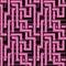 Stock Image : Vector seamless interwoven purple ornament
