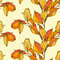 Stock Image : Vector seamless pattern with autumn leaves