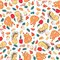 Stock Image : Seamless pattern with kids theme
