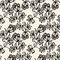 Stock Image : Vector seamless pattern with black and white flowers