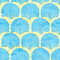 Stock Image : Vector seamless pattern with blue shells