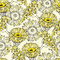 Stock Image : Vector seamless pattern with yellow gerbera flowers