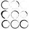Stock Image : Vector set of grunge circle brush strokes. Set 3