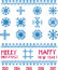 Stock Image : Vector Snowflakes in pixel style  Christmas and New Year