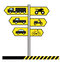 Stock Image : Vector Traffic Signs