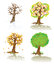 Stock Image : Vector trees of four seasons