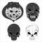 Stock Image : Vectors Skulls
