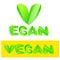 Stock Image : Vegan text sign