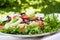 Stock Image : Vegetable salad on plate
